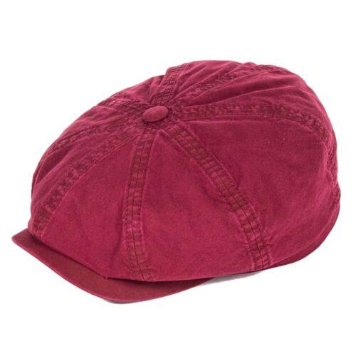 Stetson Hats Hatteras Bakerboy Cap Organic Cotton Burgundy