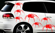 9x Spider Spinnen Autoaufkleber Seitenaufkleber Spiderman Tuning Tribal Tattoo x