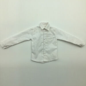 1//6 White Long Sleeve Formal Shirt Outfit for 12/'/' Action Figure TC Dragon
