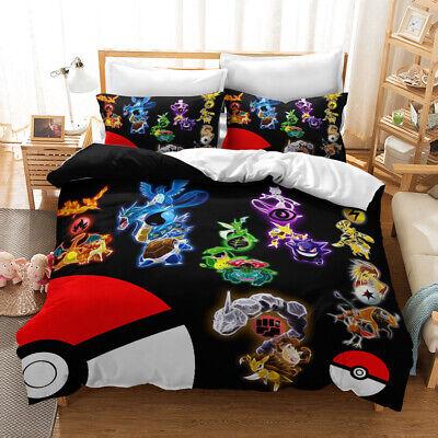 3d Dragon Kids Bedding Set Duvet Cover, Pokemon Bedding Queen Size