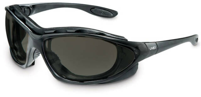 Uvex Seismic Safety Glasses Goggles with Clear Lens and Black Frame