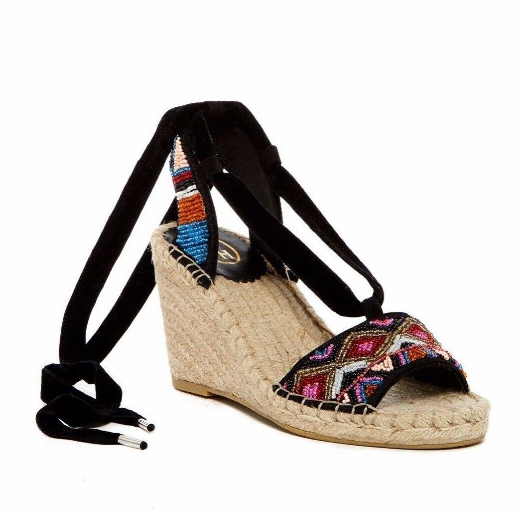 Ash Alpargatas Sandalias Zapatos Cuña Con Multi Paola De Negro H2WEI9D