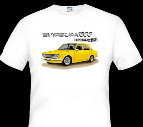 9  CAR COLOURS DATSUN  1600  SEDAN  510 QUALITY   WHITE TSHIRT BIG  FIT