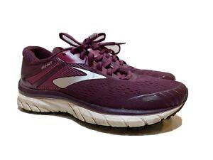 Brooks-Adrenaline-GTS-18-Running-Shoes-Women-039-s-Size-7M-Purple-White