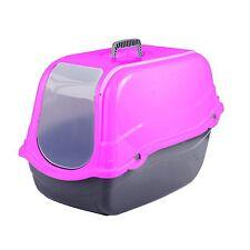 Click & Secure Pet Cat Litter Tray Toilet Box Pink