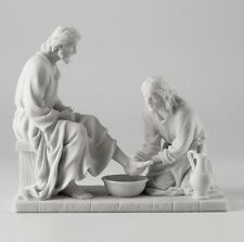 Jesus Christ Washing Disciples Feet Statue SHIPS SAME DAY OR IN 1 BUSINESS DAY !