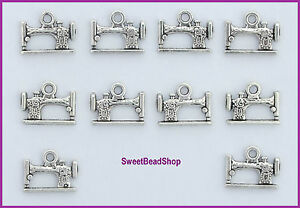 Choice-of-10-or-20-Antique-Silver-Colour-Double-Sided-Sewing-Machine-Charms