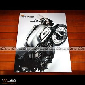 Contemplatif Norton 500 Manx - Poster Moto #pm085