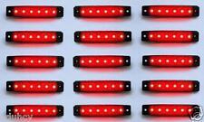 15 Stk. ROT 24V 6 LED Seite Hinten Begrenzungsleuchte Lichter für
