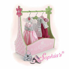 "Sophia's DRESS RACK & 3 HANGERS for 18"" Dolls American Girl Storage Closet NEW"