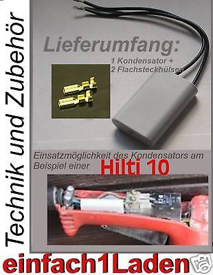 NEU Kondensator Hilti  TE 10 TE10 TE10s TM8 TM 8 TE14 bsp passend # Capacitor