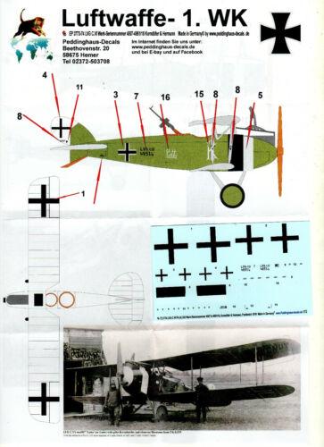 "A LVG C.VI /""K Lotta/"" Peddinghaus Decals 72 3774 1//72 WW I FA 233 4951//18"