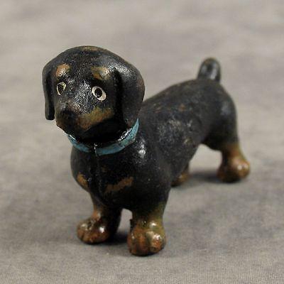 DACHSHUND DOG Cast Iron MINIATURE STATUE PAPERWEIGHT
