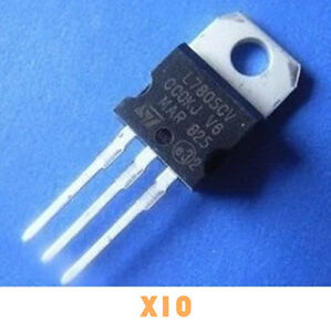 10pcs new lm7805 l7805 7805 to 220 voltage regulator ic top ebayimage is loading 10pcs new lm7805 l7805 7805 to 220 voltage