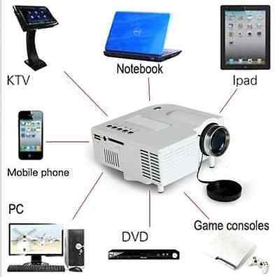 Mini Home Cinema Theater 1080P HD Multimedia USB LED Projector AV TV VGA HDMI JD