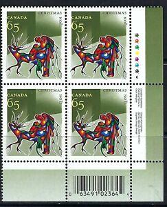 CANADA - SCOTT 1966 - VFNH - LR PLATE BLOCK - CHRISTMAS (ABORIGINAL ART) - 2002