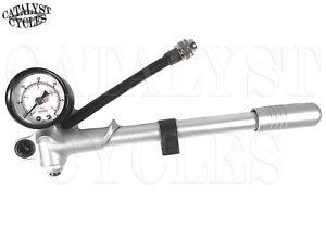 300 Psi Tool Suspension Motorcycle Hand Mini Gauge Air Shock Pump Harley Touring