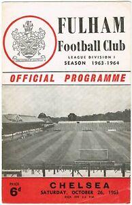 Fulham v Chelsea  Division I  196364  Good condition for age - Cardigan, United Kingdom - Fulham v Chelsea  Division I  196364  Good condition for age - Cardigan, United Kingdom