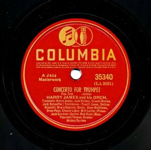 HARRY JAMES 1939 Columbia 35340 - Concerto For Trumpet / I'm in the Market...