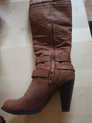 Støvler, str. 38, Brun., Skind, Næsten som ny