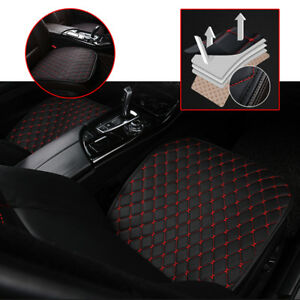 Car-Seat-Cover-Front-Cushion-Black-PU-Red-Line-Universal-Car-Chair-Accessories