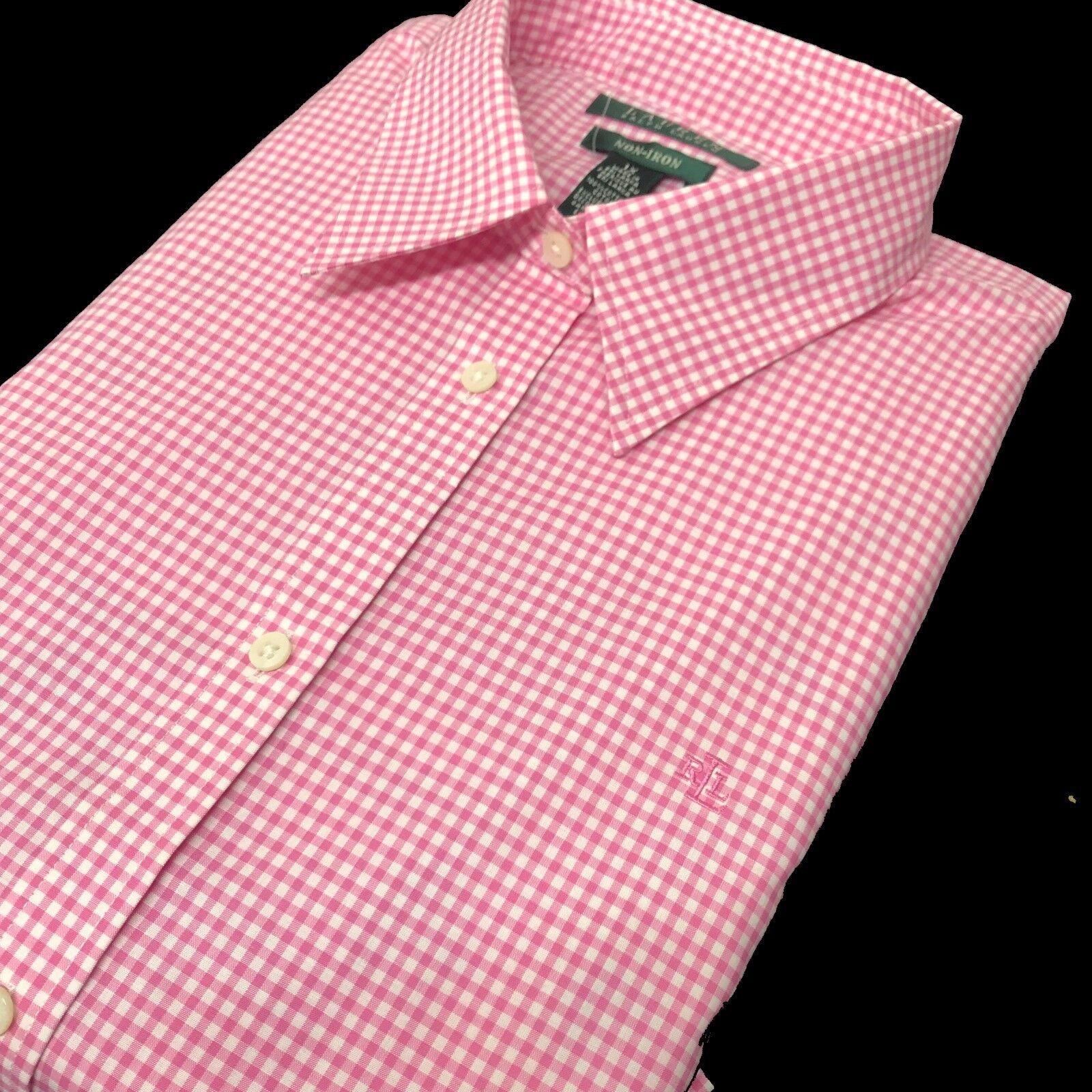 Ralph Lauren damen Shirt Check Weiß Rosa RLL Lauren 1X