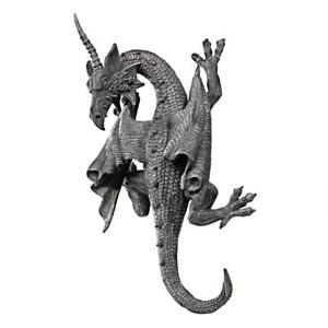Gothic-Greystone-Horned-Dragon-Of-Devonshire-Design-Toscano-13-034-Wall-Sculpture