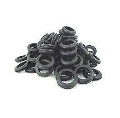 100 X Electrical Wiring Rubber Grommets Open Grommet Panlel Size 20mm Hole