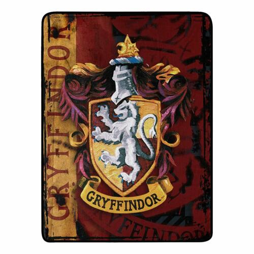 "46/"" x 60/"" Harry Potter /""Battle Flag/"" Micro Raschel Throw Blanket Multi Color"