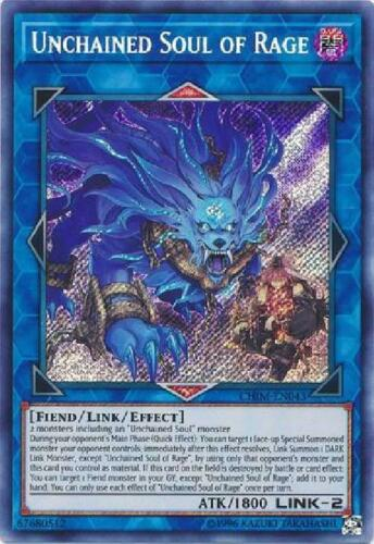 Secret Rare Unlimited Near Mint YGO Unchained Soul of Rage CHIM-EN043