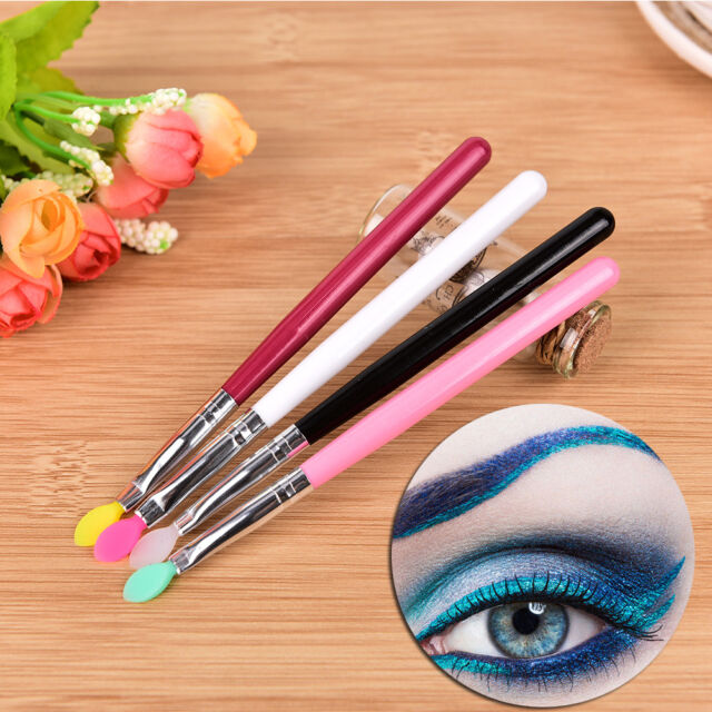 Makeup Silicone Head Brush Rhinestone Eye Shadow Powder Eyebrow Lip Tool  PM