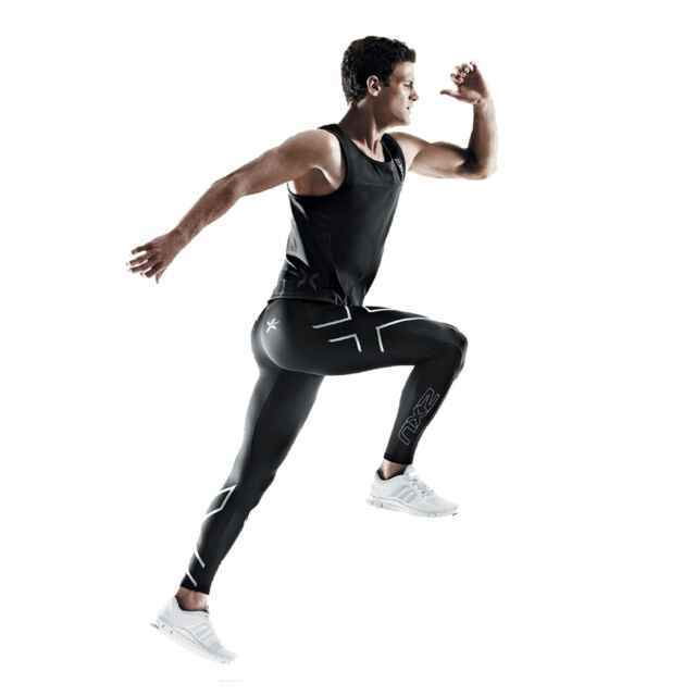 2XU Mens ELITE Compression Tight MA1936b lange Kompressions-Laufhose für Herren