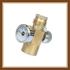 New Brass Made paintball Inner Thread CO2 Tank On/Off Valve with 1500 Psi Gauge