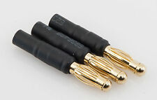 No Wires: (3) 4MM Male to 3.5MM Female Bullet Plug Adapter for ESC / Motor Wires