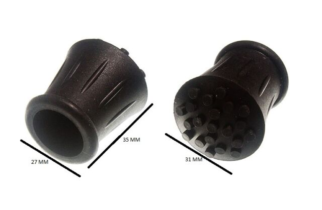 Walking Stick Crutch Frame Ferrule Black Rubber 3/4 Inch 19mm ID Pack 10