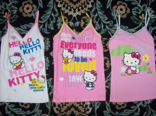Sanrio Sleepwear Loungewear Womens Hello Kitty Sleeveless Top Pink White
