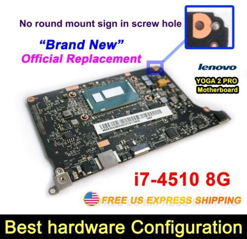 For Lenovo Yoga 2 Pro 20266 w i7-4510U 2.0GHZ CPU 8G VIUU3 NM-A074  Motherboard