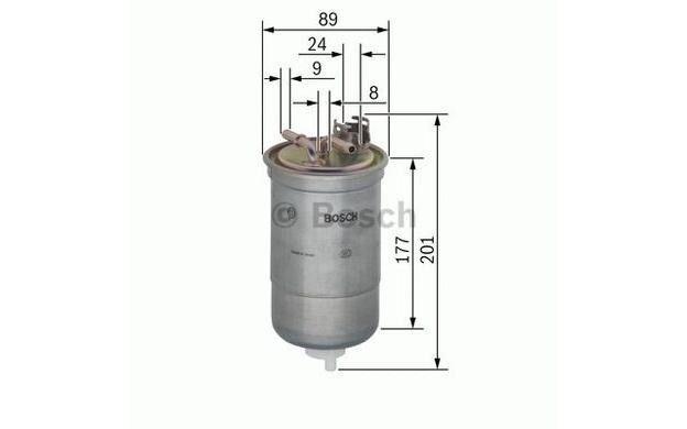 BOSCH Filtro combustible SEAT LEON VOLKSWAGEN GOLF PASSAT AUDI 0 450 906 374