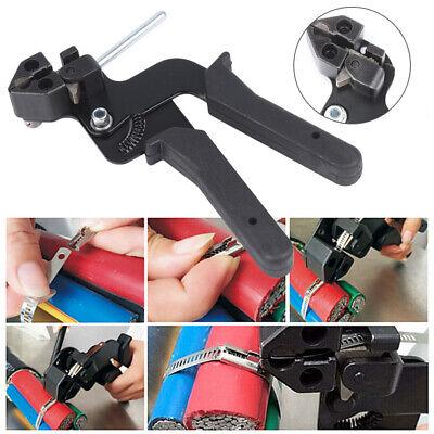 Kabelbinderzange 12mm Spannwerkzeug Kabelbinder Zange Werkzeug Schwarz TL 08