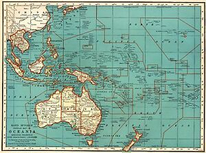1935 vintage oceania map philippines pacific islands map gallery image is loading 1935 vintage oceania map philippines pacific islands map gumiabroncs Gallery