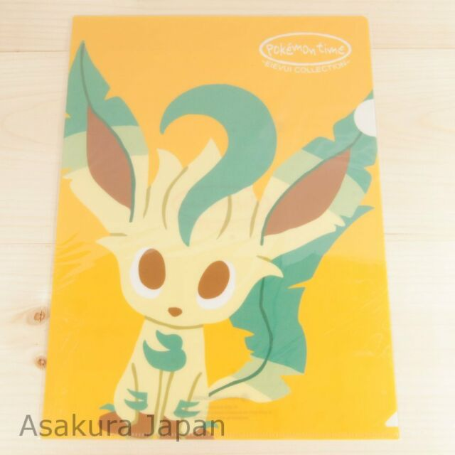 Pokemon Center Original pokémon time A4 Size Clear File Folder Leafeon