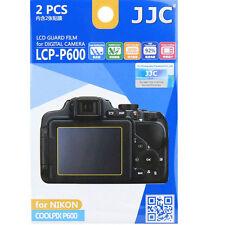 JJC LCP-P600 LCD Film Camera Screen Display Protector for NIKON COOLPIX P600 2pk