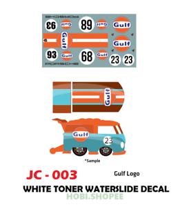 Jc 9003 White Toner Waterslide Decals For Custom 1 64 Hot Wheels Ebay