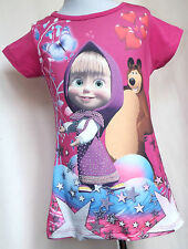 Mascha und der Bär Kinder Mädchen Tunika T-shirt Gr. 104 /010/
