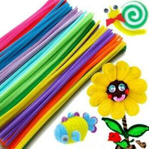 New-Chenille-Stems-Pipe-Cleaners-Kids-Craft-Educational-Toys-Twist-Rods-Wire