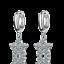 Ladies Fashion Jewellery 925 Sterling Silver Zircon Flower Ear Hoop Earrings