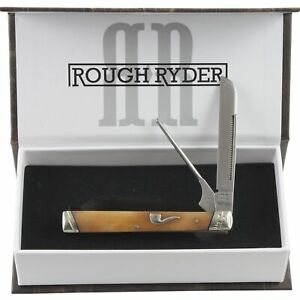 Rough-Rider-The-Pipe-Doctor-Tobacco-Bone-Folding-Pocket-Knife-RR1899