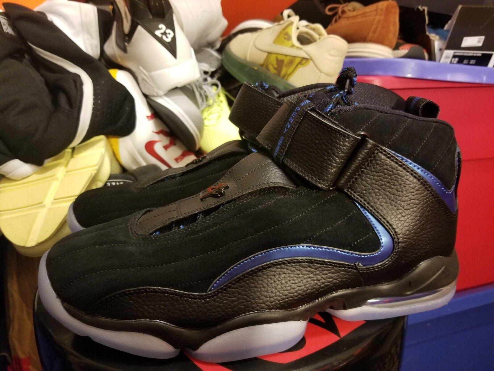Nike Air Penny IV 4 Sz. 11.5 penny Hardaway Black bluee orlando Magic 864018-001