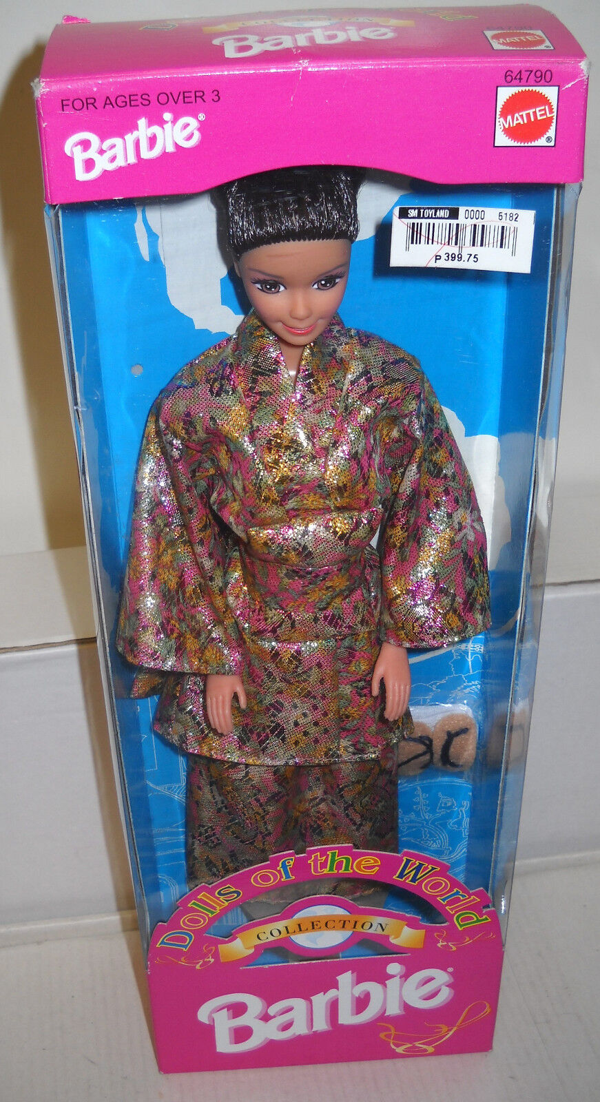 Nunca quitado de la Caja Mattel Filipinas Muñecas del mundo muñeca Barbie de Japón