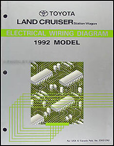1992 toyota land cruiser wiring diagram manual original new rh ebay com